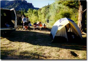 camp in Utah at Second left canyon