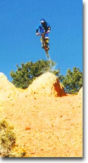 Losee Canyon - Sean Dropping big air off rock jump